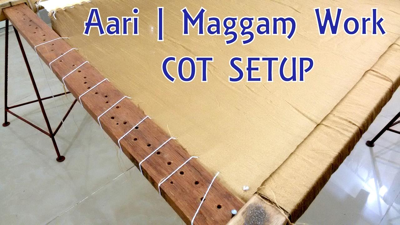 Diy Aari Maggam Work Cot Complete Setup At Home Tutorial