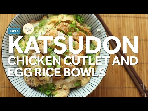 How to Make Katsudon (Japanese Chicken Cutlet and Egg Rice Bowl)