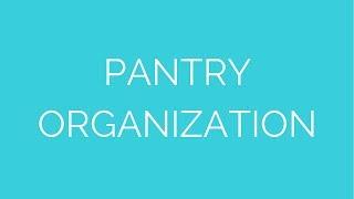 Pantry organization Thumbnail