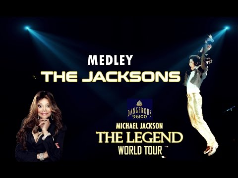 Michael Jackson  - Medley The Jacksons  - The Legend World Tour