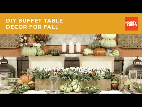 Fall Buffet Table Decor