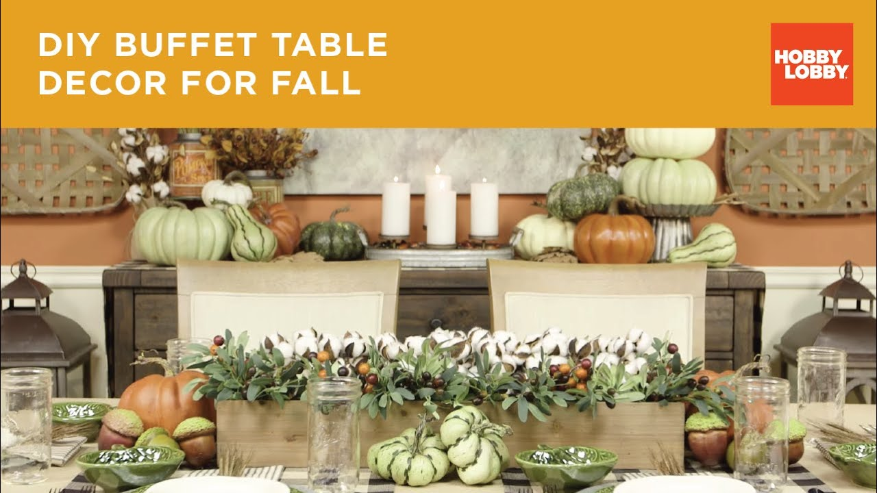 fall buffet table decor youtube