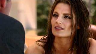 Castle 3x22 Stana Katic in swimsuit