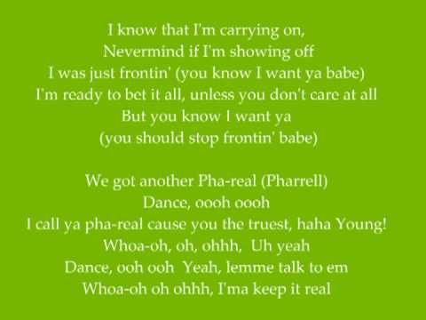 Pharrell Williams - Frontin' with lyrics