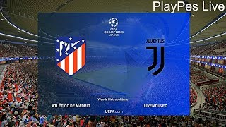 PES 2019 - ATLETICO vs JUVENTUS - UEFA Champions League - Full Match & Free Kick Goal - PC Gameplay