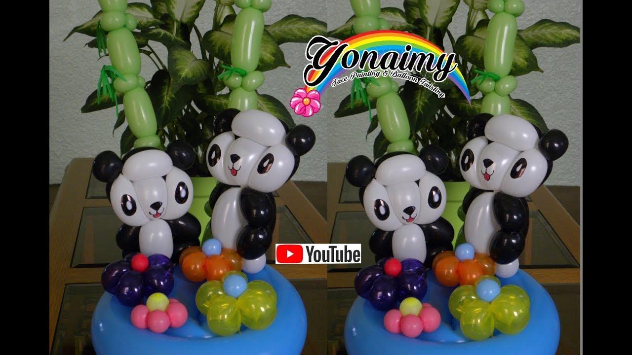 Panda con globos balloon panda globoflexia youtube - Hacer decoraciones con globos ...