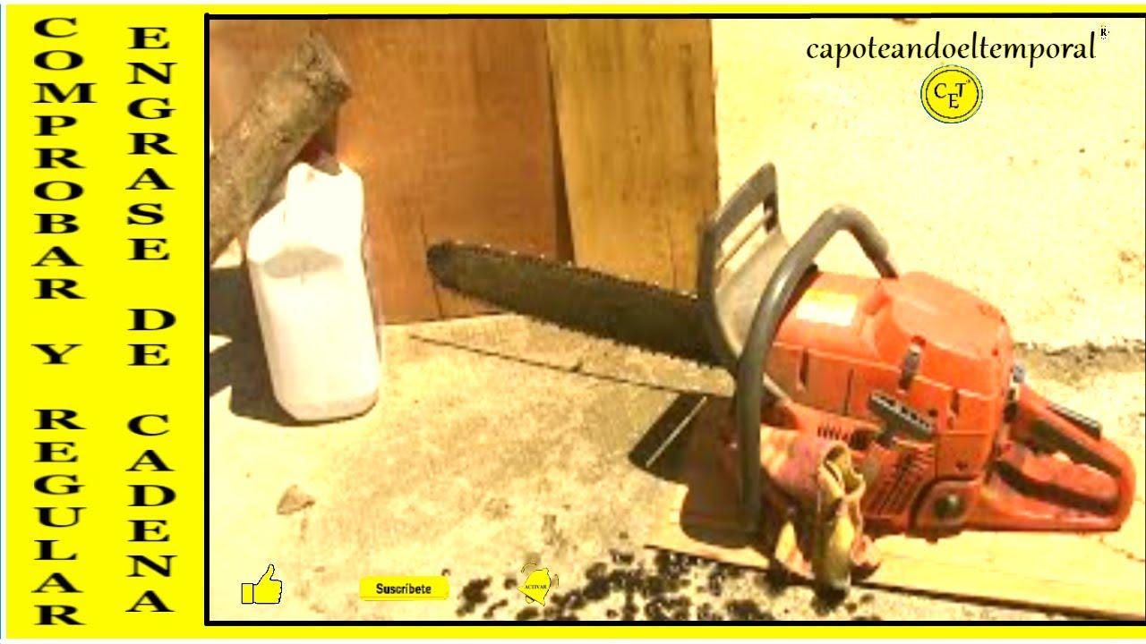 Como comprobar y regular el engrase en la cadena de una - Motosierra electrica o gasolina ...