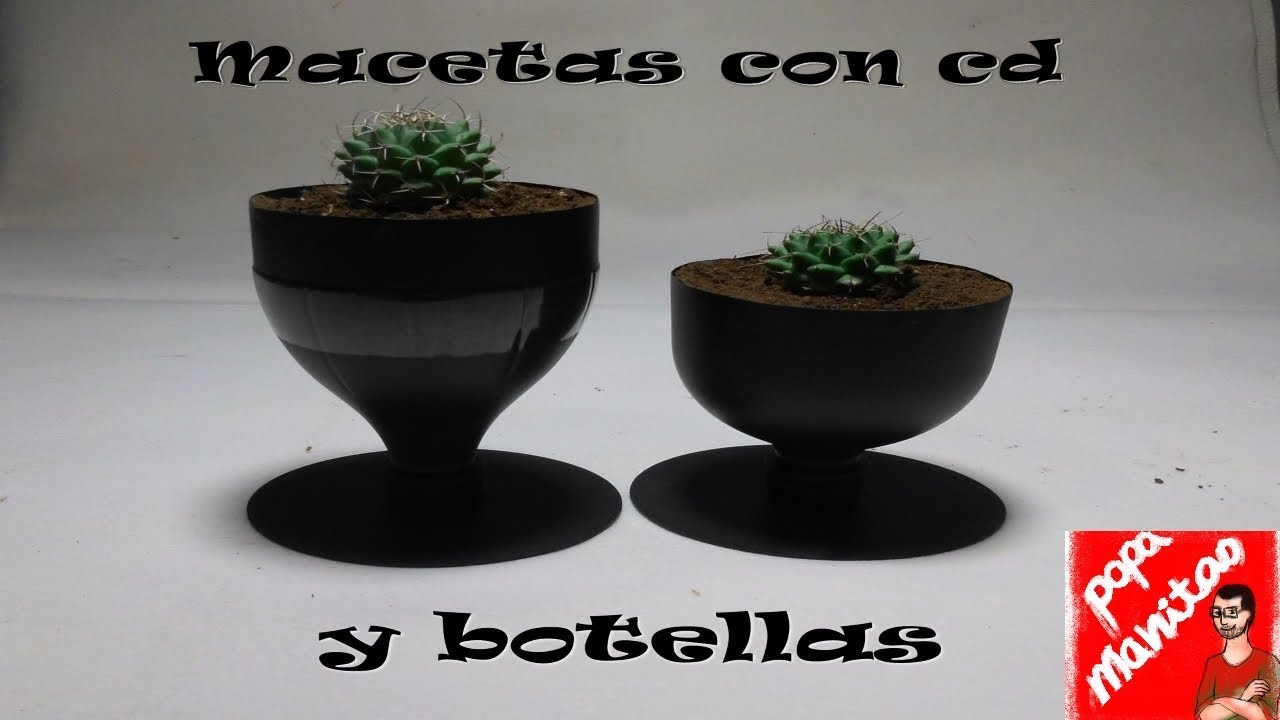 Como hacer macetas con botellas de pl stico how to make - Como hacer macetas ...
