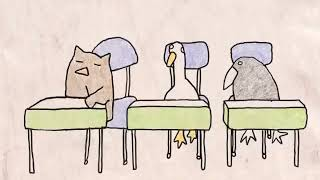 Some Facts About Owls  A Funny but Super Simple Colored Pencil Cartoon Animation