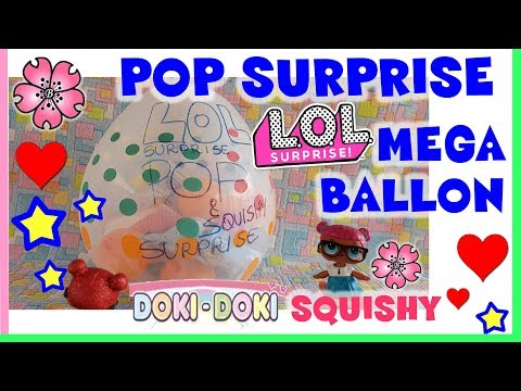 LOL SURPRISE POP SURPRISE MEGA BALLON: una GOLD, DOKI DOKI e un libro LOL, By Lara e Babou