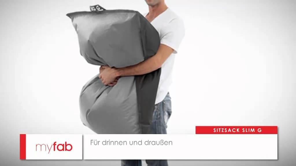 Der Sitzsack Slim G Von Myfab