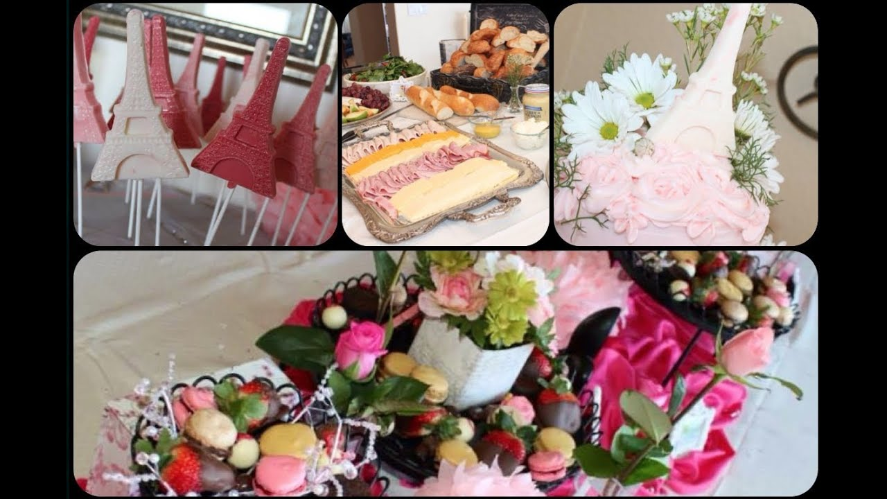 french inspired bridal shower