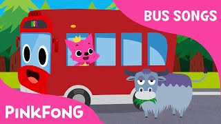 The Wheels on the Red Bus | Bus Songs | Car Songs | PINKFONG Songs for Children