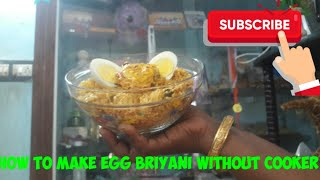 How to make egg briyani without cooker/ in tamil/KITTY KITCHEN