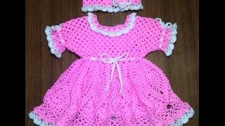Розовое платье, от 6 месяцев. Часть 1. Кокетка.