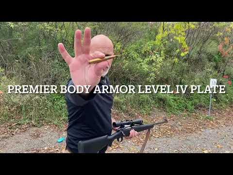 .30-06 AP multi-strike test: Premier Body Armor level IV plate.