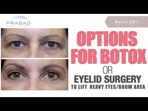 How Lifting the Brows Can be Done with Botox®, a Brow Lift, or Eyelid Surgery