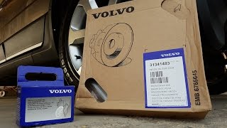 Volvo rear brakes replacement with electronic parking brake. (EPB)