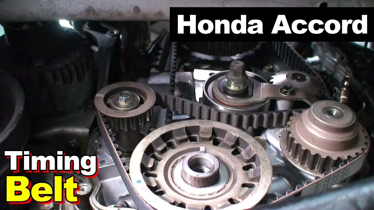 2002 honda accord timing belt balance shaft valve cover tune up [ 1280 x 720 Pixel ]