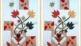 Folhas de Outono em patchwork e apliquê – Técnicas patchwork