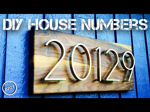 DIY HOUSE NUMBERS MAKEOVER // SCRAP WOOD PROJECTS