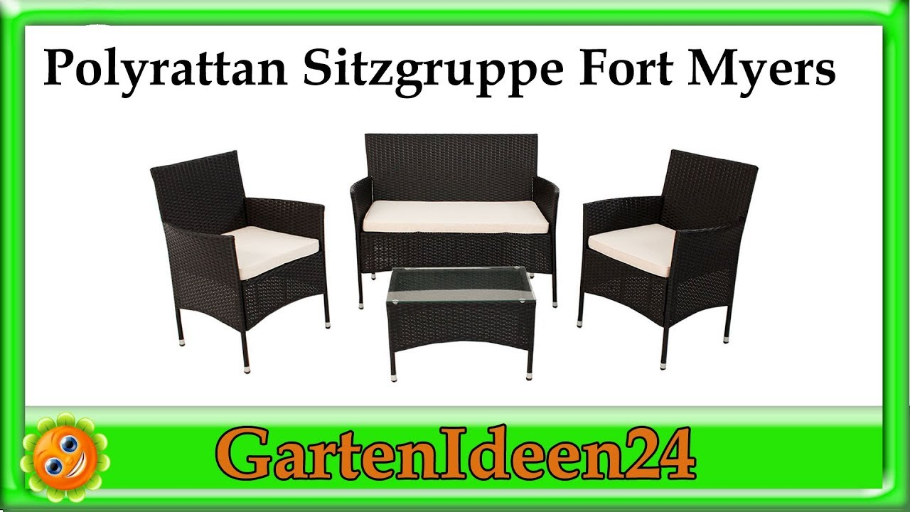 polyrattan sitzgruppe fort myers gartenidee ein rattan gartenm bel set f r balkon und. Black Bedroom Furniture Sets. Home Design Ideas