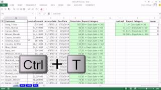 Excel Magic Trick 1129: Aging Accounts Receivable Reports Using Slicer, Excel Table, Page Setup