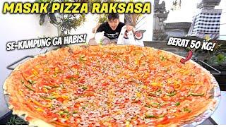 Download lagu REKOR DUNIA! 50 KG PIZZA SOSIS RAKSASA BUAT MUKBANG SEKELUARGA.