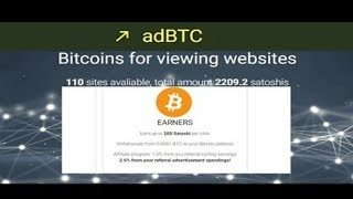 AdBtc.top Bitcoin advertising Earn money from viewing webpage Withdraw faucethub
