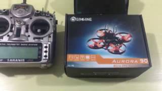 Eachine Aurora 90 Frsky version Unbox and binding