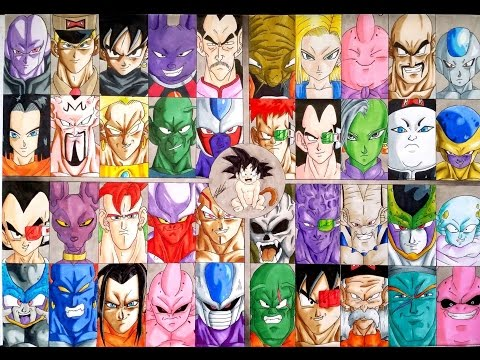 Drawing ☆ EVILS OF DRAGON BALL/Z/GT/S History / Olympia Drawing Attacks