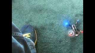 Indoor Hubsan H107 Quadcopter Test Flight Bug Crash Led Lights X4 4ch Rc Radio Control Rtf Rc