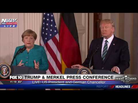 FNN: President Trump And German Chancellor Angela Merkel Joint Press Conference at White House
