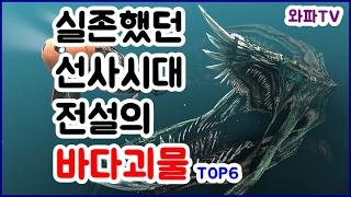 [와파TV] 아파트 크기만한 괴물 실화냐? 실화야! 실존했던 선사시대 전설의 바다괴물 랭킹 TOP6 (Real Ancient Sea Monster Ranking TOP6)