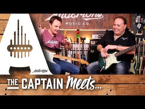 The Captain Meets John Cruz from the Fender Custom Shop!