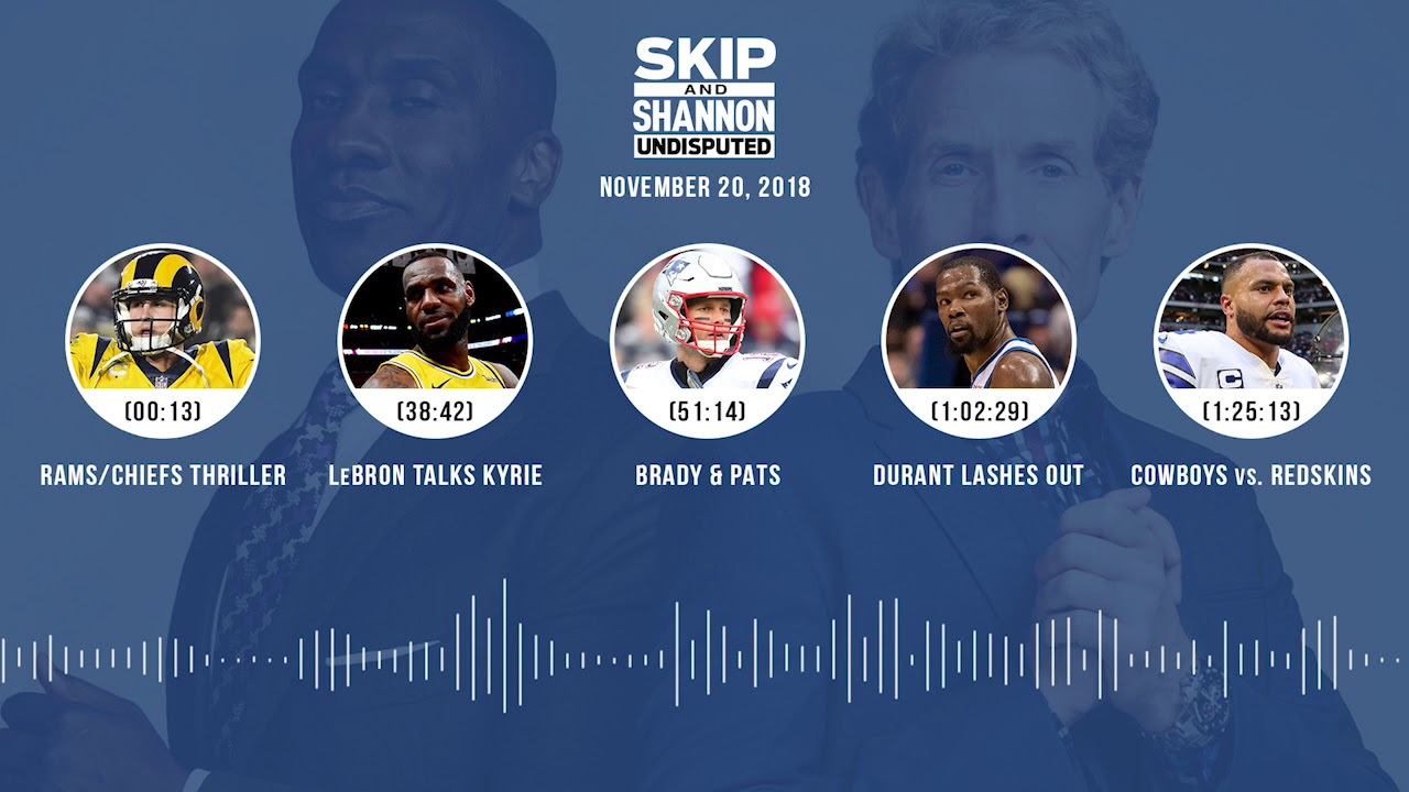 UNDISPUTED Audio Podcast (11.20.18) with Skip Bayless, Shannon Sharpe & Jenny Taft | UNDISPUTED