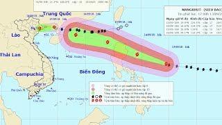 Áp thấp nhiệt đới trên đất liền (suy yếu từ bão số 5), siêu bão gần Biển Đông (Mangkhut)