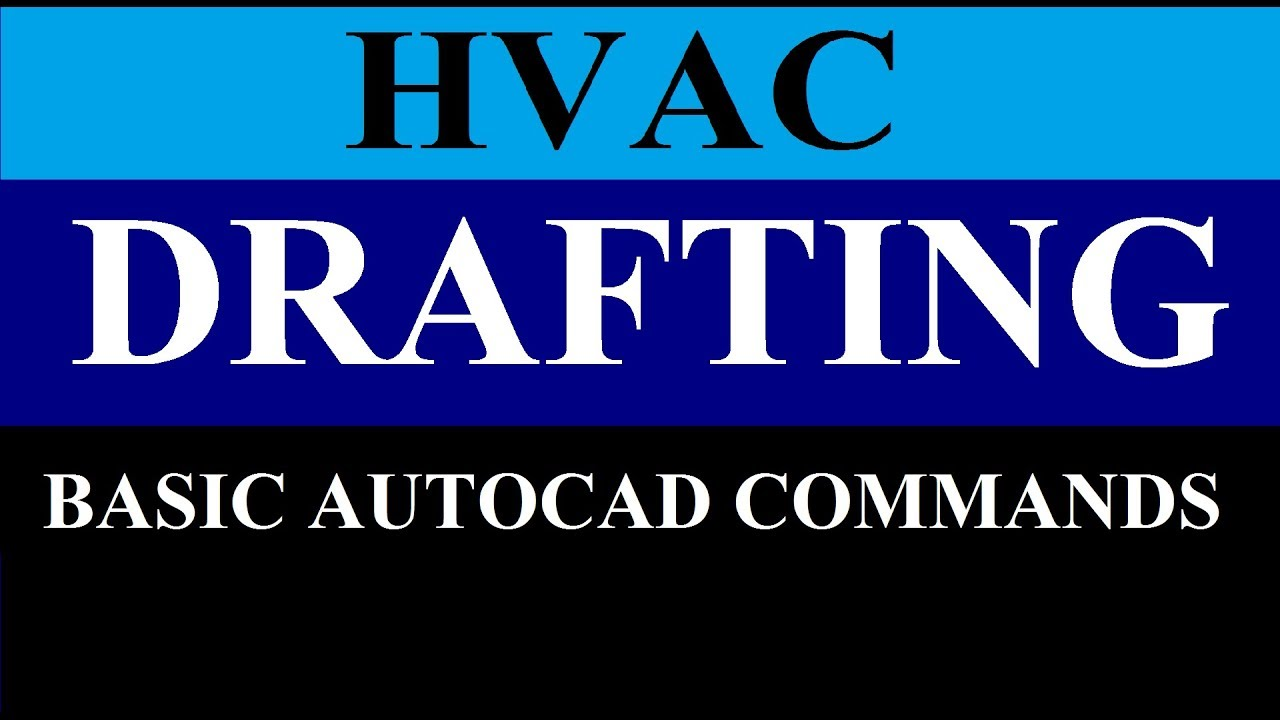 Hvac Drafting In Autocad Hindi Part 1 Youtube Drawing