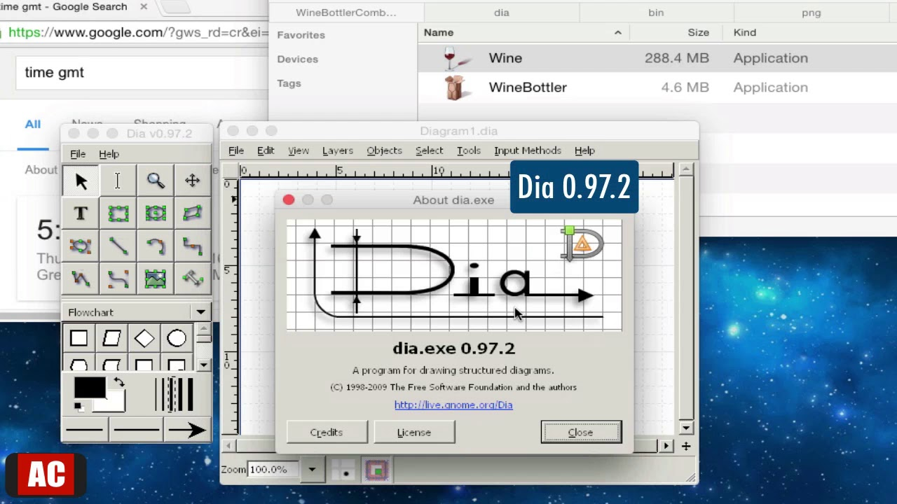 Run dia 0972 diagram editor on os x winebottlercombo youtube run dia 0972 diagram editor on os x winebottlercombo ccuart Images
