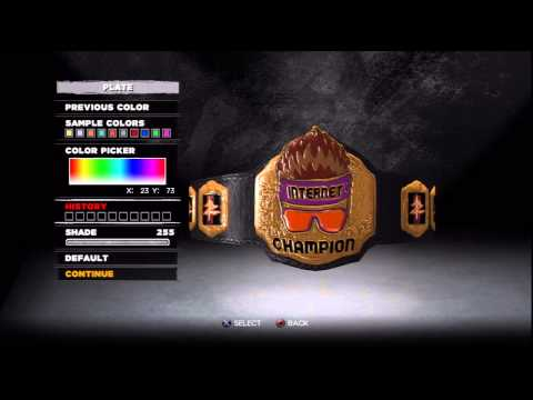 WWE 13 Create A Title, And How To Find It!