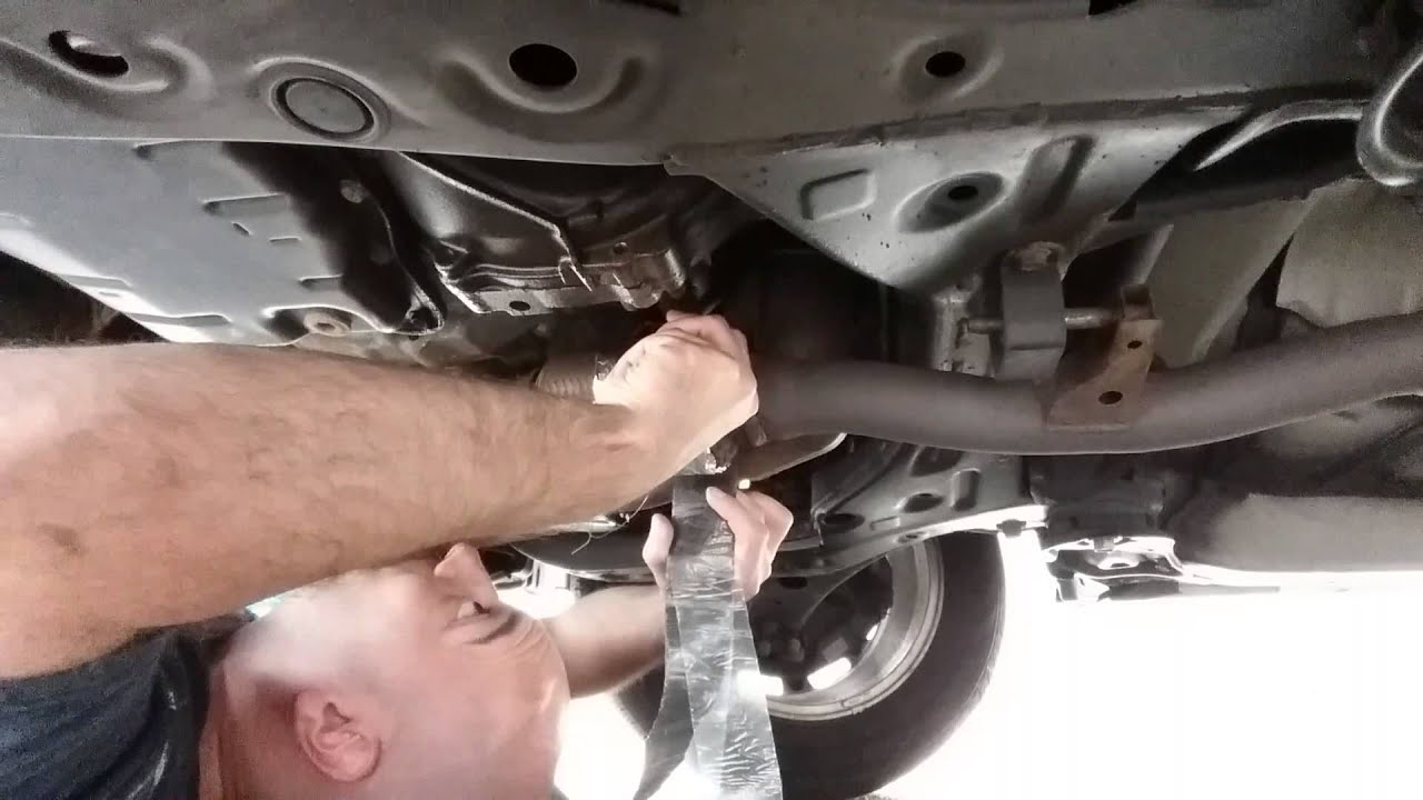 how to fix a muffler exhaust leak for 3 00 in five minutes