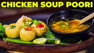 How to prepare Chicken Soup Poori Easily? | Chef Suresh Chinnasamy