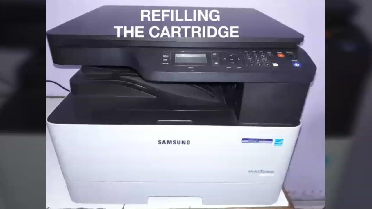 How to Refill The Toner Cartridge of xerox machine ( Samsung K2200)