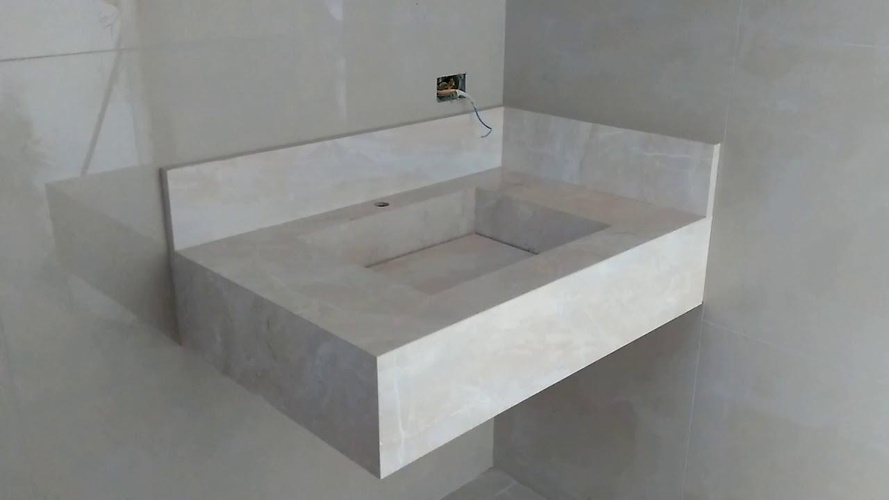 Pia De Banheiro Com Ralo Oculto De Plataforma Réta