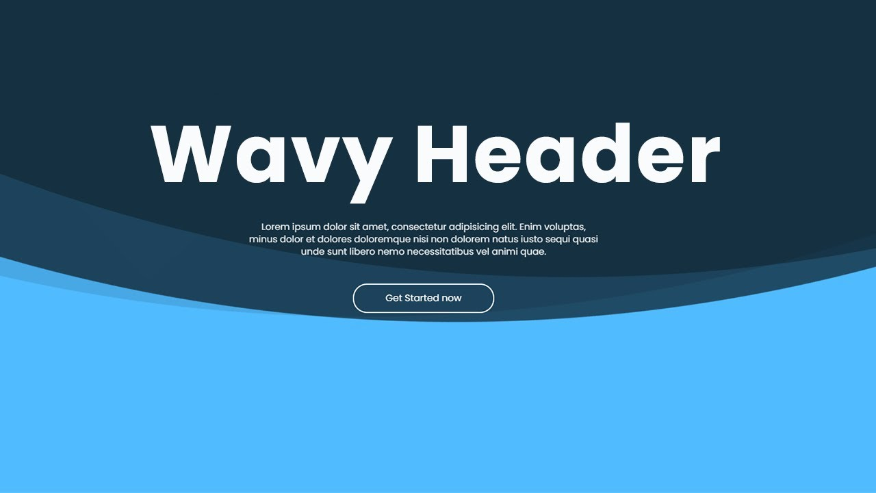 Wavy Animated Hero using HTML CSS Only - No SVG and JavaScript