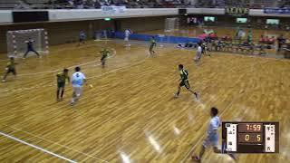 6日 ハンドボール男子 あづま総合体育館 Bコート 不来方vs山陽 2回戦 1