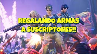GIFTING WEAPONS TO SUBS LIVE!! PASS FOR YOURS!! - Fortnite Save the World
