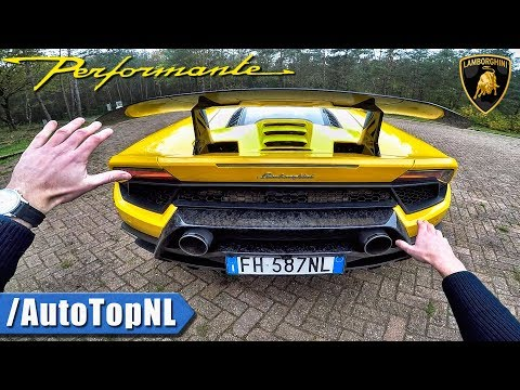 Lamborghini Huracan Performante REVIEW POV Test AUTOBAHN & FOREST Roads by AutoTopNL