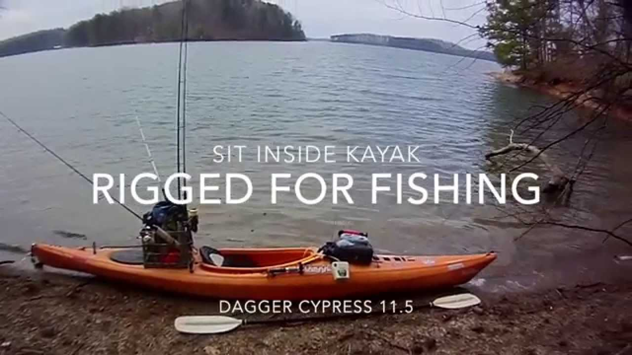 Diy kayak fishing sit inside kayak youtube for Sit on vs sit in kayak for fishing