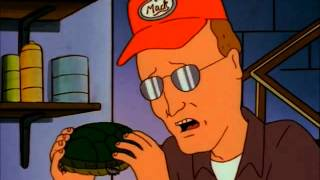 Dale Gribble talks to his pet turtle.